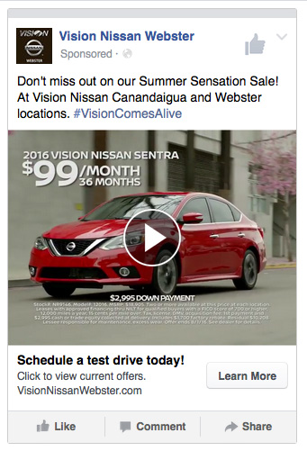 Vision Summer Sensation FB Video AD