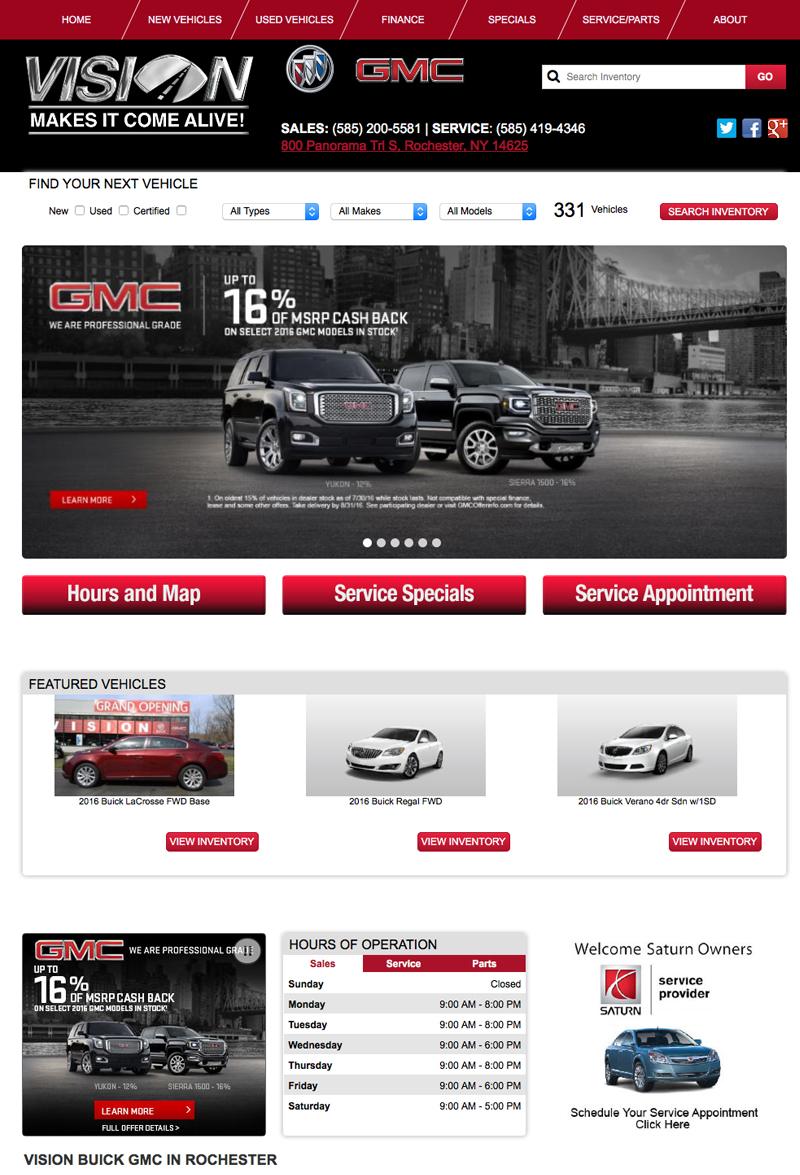 Vision Buick GMC Website