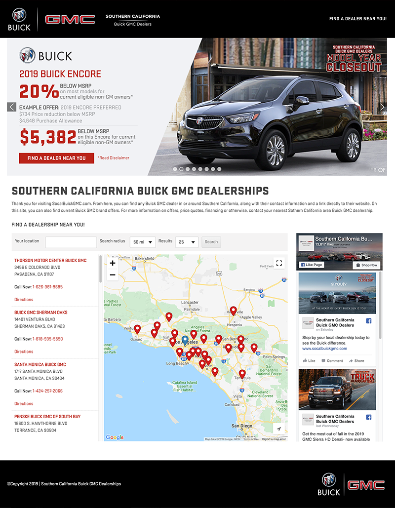 Buick GMC Southern California Website